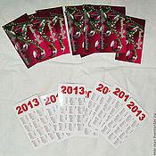 Дизайн и реклама ручной работы. Ярмарка Мастеров - ручная работа визитка календарь. Handmade.