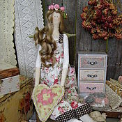 Куклы и игрушки ручной работы. Ярмарка Мастеров - ручная работа Кукла в стиле тильда Нэя свежая роза. Handmade.