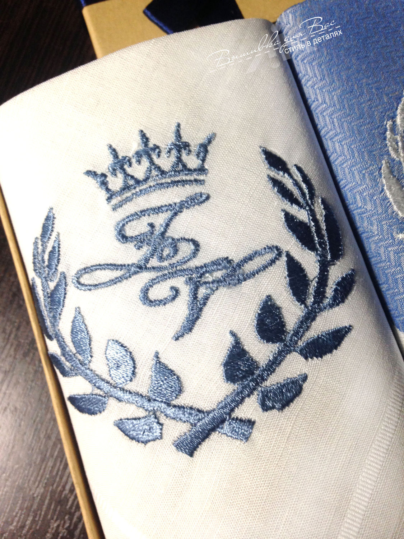... handkerchief bow men's embroidered monogram monogram initials ...