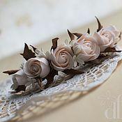 Свадебный салон ручной работы. Ярмарка Мастеров - ручная работа Винтажная заколка с розами. Handmade.