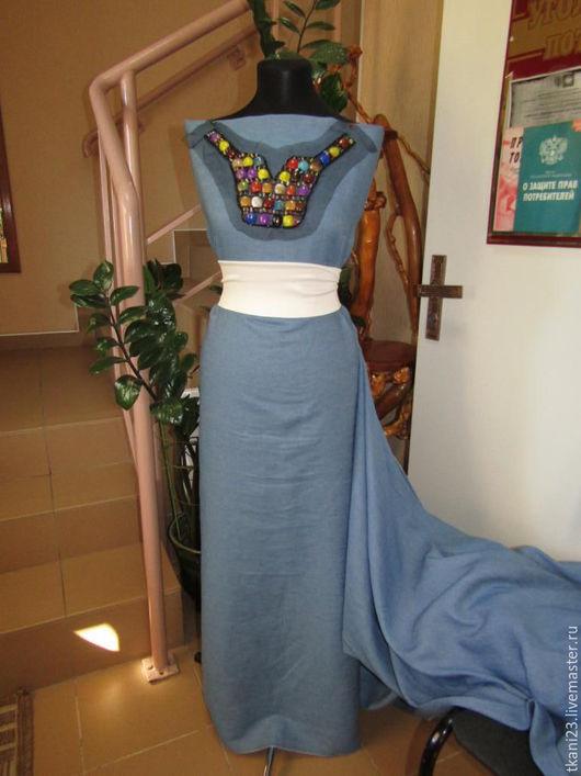Шитье ручной работы. Ярмарка Мастеров - ручная работа. Купить Ткань джинсовая гладкокрашенная арт.60 ДЖ-4 голубой(Китай). Handmade.