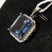 Украшения handmade. Livemaster - original item Silver pendant with quartz 11h9 mm. Handmade.