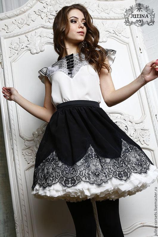 Черно Белая Блузка Доставка