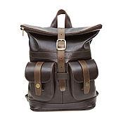 Сумки и аксессуары handmade. Livemaster - original item Women`s backpack brown leather Claire Mod C32-722. Handmade.