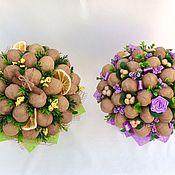 Подарки ручной работы. Ярмарка Мастеров - ручная работа Букеты  с орехами и конфетами. Handmade.