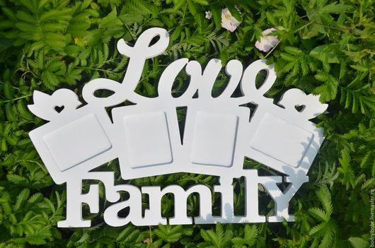 """Фоторамки ручной работы. Ярмарка Мастеров - ручная работа. Купить Фоторамка """"Love family"""".. Handmade. Белый, фоторамка, рамка"""