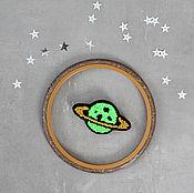 Украшения handmade. Livemaster - original item Embroidered brooch planet Saturn. Handmade.