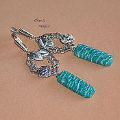 Украшения handmade. Livemaster - original item Earrings amazonite