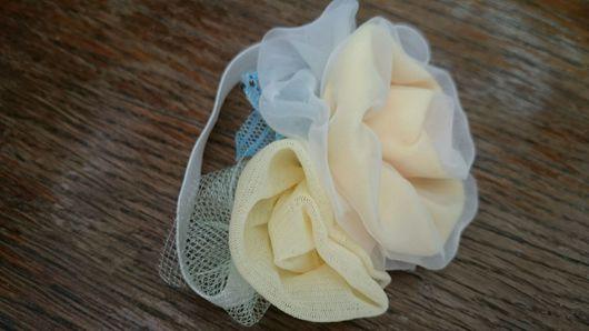 Диадемы, обручи ручной работы. Ярмарка Мастеров - ручная работа. Купить Повязка Чайные розы. Handmade. Романтический стиль, для волос