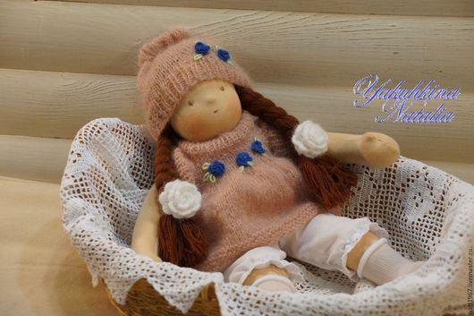 Вальдорфская игрушка ручной работы. Ярмарка Мастеров - ручная работа. Купить Дашенька - вальдорфская куколка. Handmade. Кремовый, вальдорфская кукла