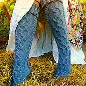 """Аксессуары ручной работы. Ярмарка Мастеров - ручная работа Гольфы вязаные """"Теплые ножки"""".. Handmade."""