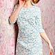 """Платья ручной работы. Заказать Платье кружевное """"Эмма"""". JULINA. Ярмарка Мастеров. Платье коктейльное, платье мини, платье голубой"""