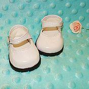 туфли для куклы 7см белые