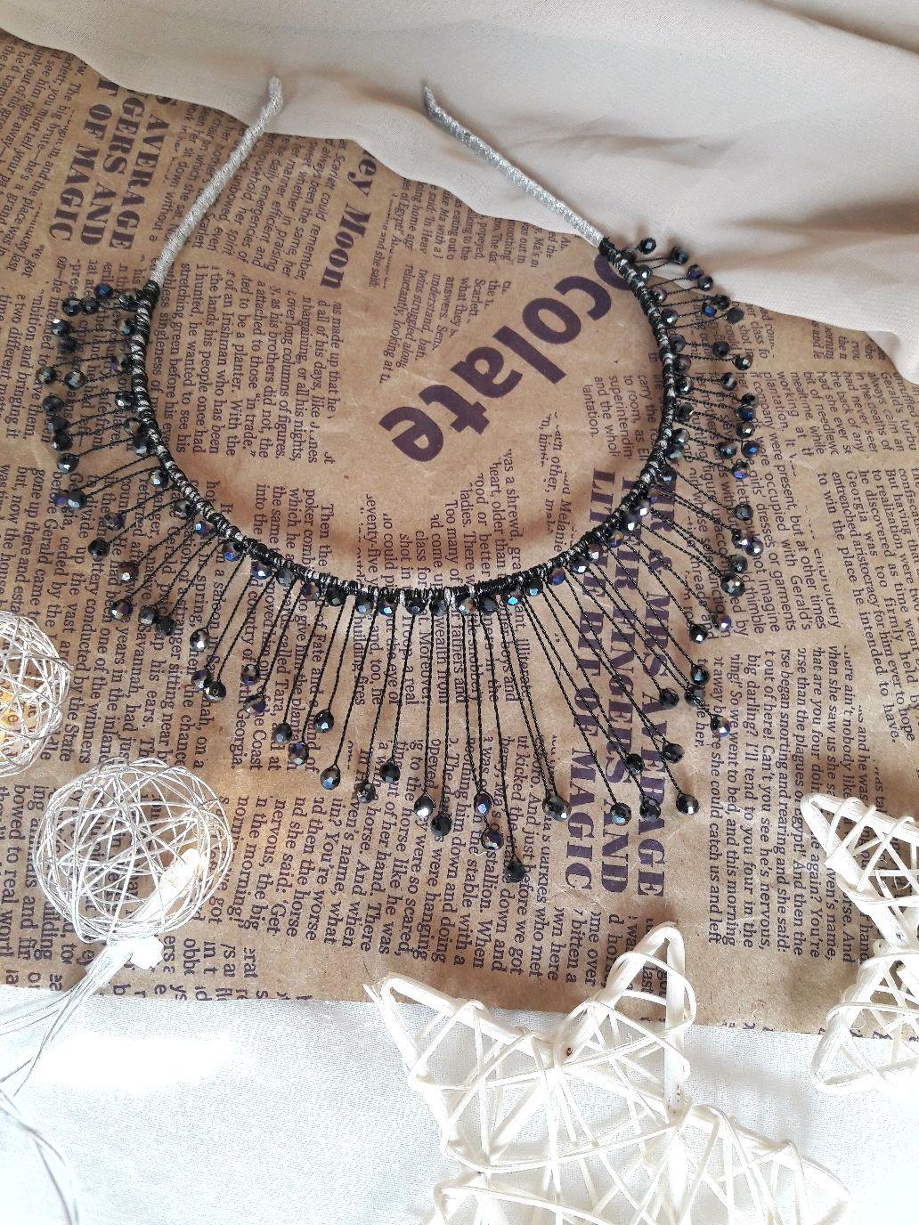 Ободок-корона из бусин, Ободки и повязки на голову, Белореченск,  Фото №1