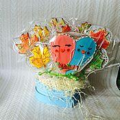 """Сувениры и подарки ручной работы. Ярмарка Мастеров - ручная работа Букет пряников """"Осень"""" Пряничный букет для мужчины. Handmade."""