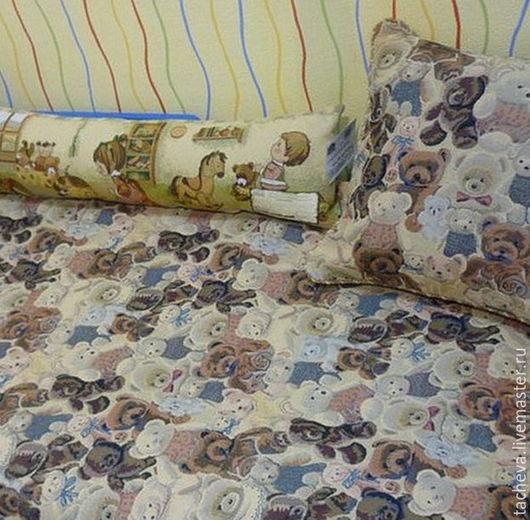 Текстиль, ковры ручной работы. Ярмарка Мастеров - ручная работа. Купить Комплект детский-мишки. Handmade. Комбинированный, покрывало детское