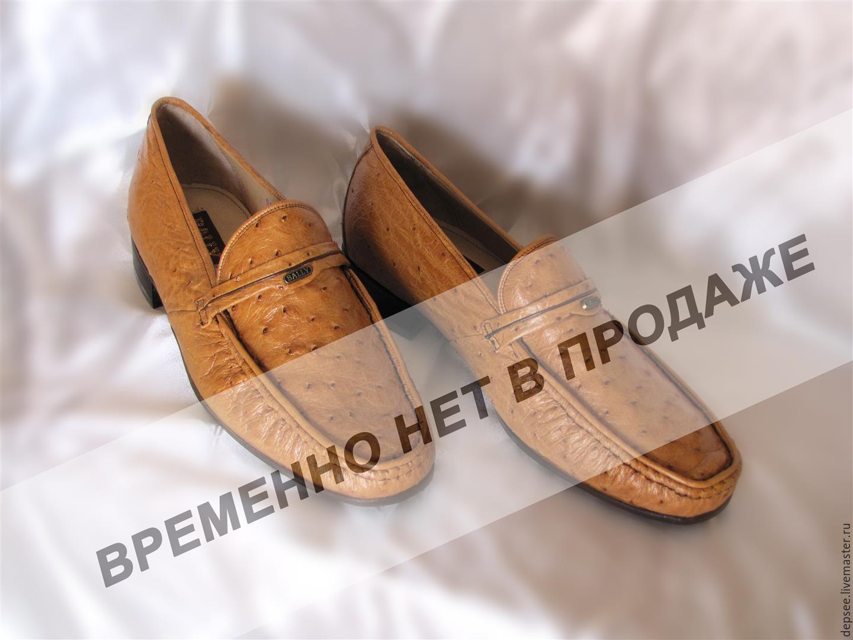 d5a5ef5b2ba8 Обувь ручной работы. Ярмарка Мастеров - ручная работа. Купить Туфли из кожи  страуса.