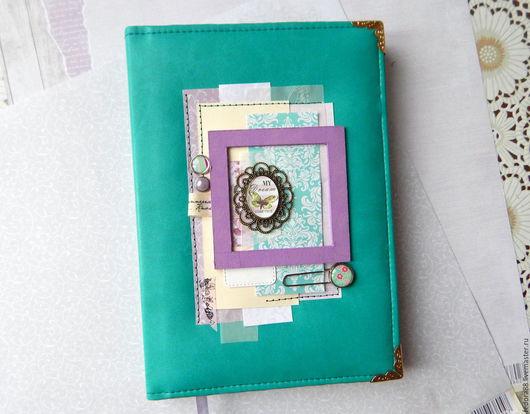 Блокнот ручной работы в мягкой обложке  из экокожи