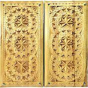 Активный отдых и развлечения handmade. Livemaster - original item Backgammon author, geometer. hand-carved 50x50 cm.. Handmade.