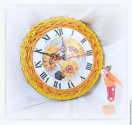 """Часы для дома ручной работы. Ярмарка Мастеров - ручная работа. Купить Часы """"Летнее время"""". Handmade. Желтый, часы необычные"""