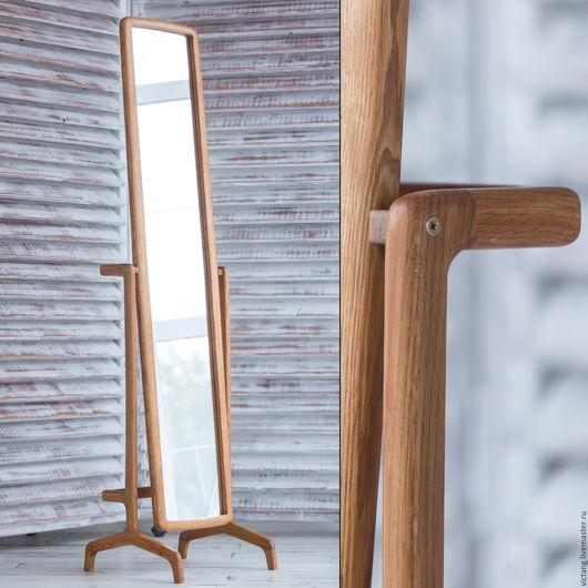 Зеркала ручной работы. Ярмарка Мастеров - ручная работа. Купить Зеркало в полный рост на подставке. Handmade. Комбинированный, ручная работа