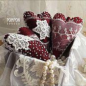 Подарки к праздникам ручной работы. Ярмарка Мастеров - ручная работа Сердечки-валентинки  МАРСАЛА. Handmade.