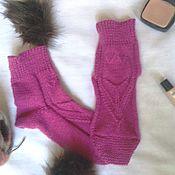 Аксессуары handmade. Livemaster - original item Wool socks - cranberry. Handmade.