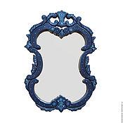 Для дома и интерьера handmade. Livemaster - original item Frame mirror blue. Handmade.
