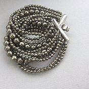 Украшения handmade. Livemaster - original item Bracelet SILVER from pyrite. Handmade.
