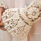 Аксессуары handmade. Livemaster - original item Cuffs Lacy crochet Luxury. Handmade.