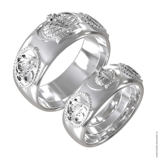 """Серьги ручной работы. Ярмарка Мастеров - ручная работа. Купить Обручальные кольца """"Истина"""" белое золото, золотые свадебные. Handmade."""