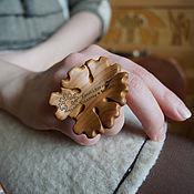 Украшения ручной работы. Ярмарка Мастеров - ручная работа Кольцо из дерева Снежинка. Handmade.
