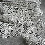 Материалы для творчества handmade. Livemaster - original item Linen lace-prosa grey