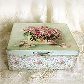 Для дома и интерьера ручной работы. Ярмарка Мастеров - ручная работа шкатулка Розовое настроение. Handmade.