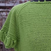 """Одежда ручной работы. Ярмарка Мастеров - ручная работа Пуловер вязаный """"Зеленое яблоко"""". Handmade."""