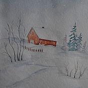 Картины и панно handmade. Livemaster - original item Snowfall. Handmade.
