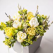 Косметика ручной работы handmade. Livemaster - original item Bouquet of Yellow tulips soap with lavender of Provence. Handmade.