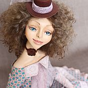 Куклы и игрушки ручной работы. Ярмарка Мастеров - ручная работа Каркасная кукла Агата. Handmade.