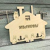Ключницы ручной работы. Ярмарка Мастеров - ручная работа Ключница настенная с различными надписями. Handmade.