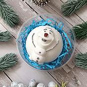 Косметика ручной работы handmade. Livemaster - original item Bath bomb Snowman Olaf from MF Cold heart. Handmade.