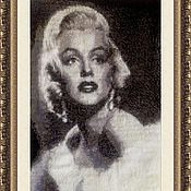 Картины и панно handmade. Livemaster - original item Tapestry beaded MARILYN MONROE (Marilyn Monroe). Handmade.