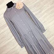 Одежда ручной работы. Ярмарка Мастеров - ручная работа Бохо платье-рубашка. Handmade.