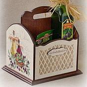 """Для дома и интерьера ручной работы. Ярмарка Мастеров - ручная работа Короб для специй и масла """"Herbs&Flowers"""", Прованс, Тоскана. Handmade."""