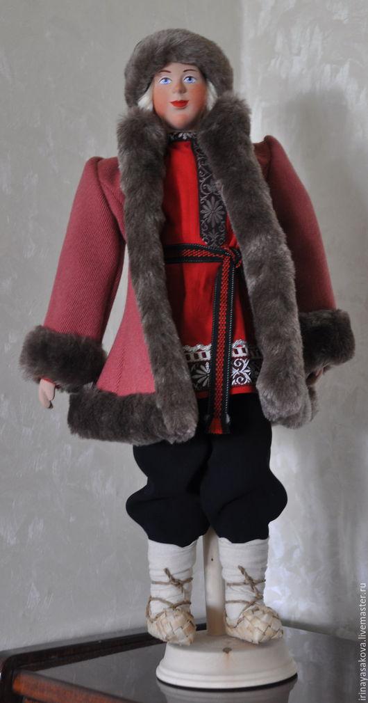Народные куклы ручной работы. Ярмарка Мастеров - ручная работа. Купить Кукла крестьянский парень в зимнем костюме 19 век. Handmade.
