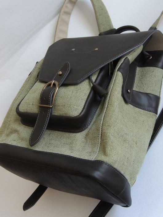 Рюкзаки ручной работы. Ярмарка Мастеров - ручная работа. Купить Рюкзак. Handmade. Хаки, итальянская фурнитура