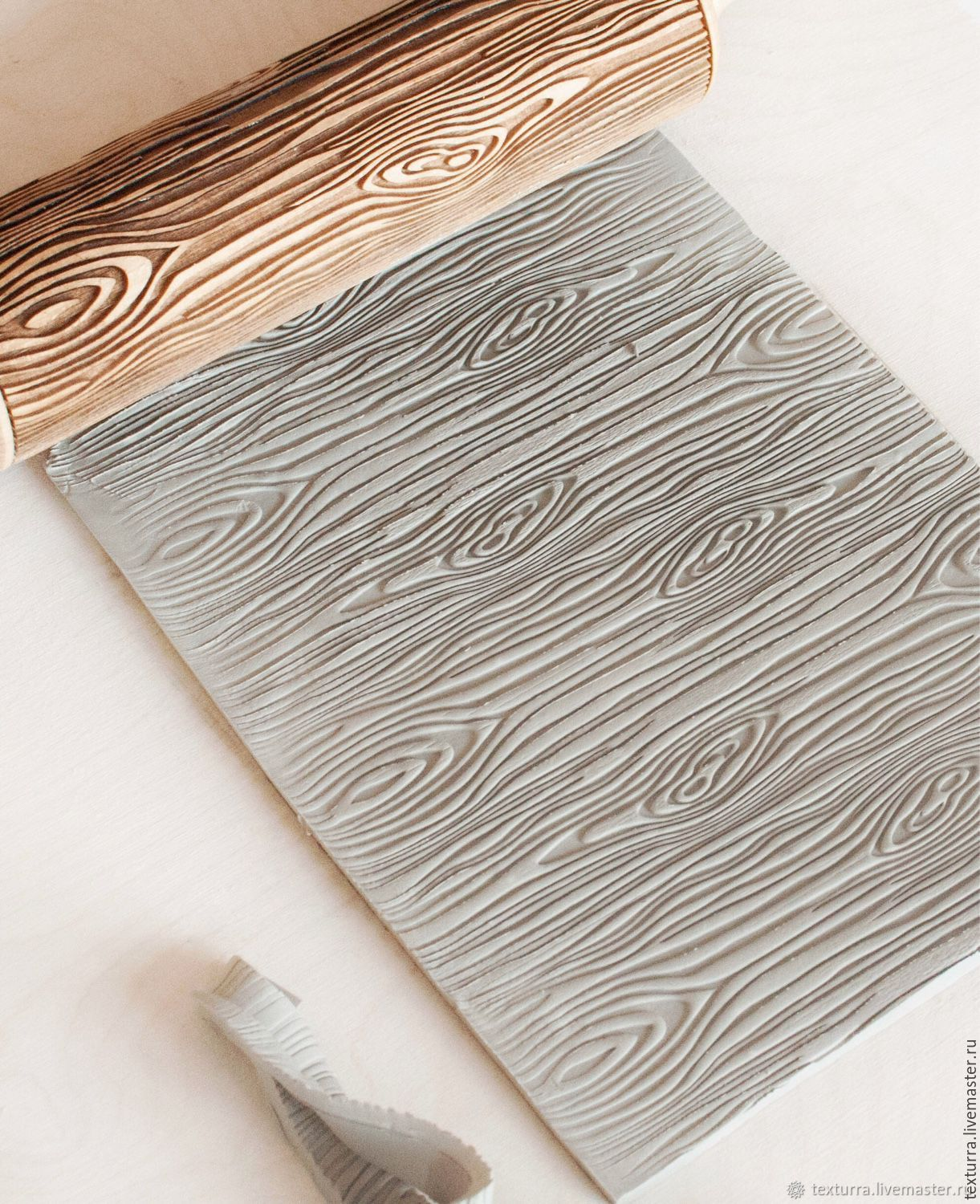 Wood Texture Engraved Rolling Pin By Texturra купить