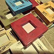 Сувениры и подарки ручной работы. Ярмарка Мастеров - ручная работа Рамка состареная, рамка в стиле шебби шик,разных цветов и размеров.. Handmade.