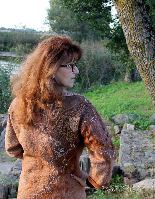 """Верхняя одежда ручной работы. Ярмарка Мастеров - ручная работа. Купить Жакет, легкая куртка """"Бежевый микс"""" - войлок. Handmade."""