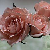 Свадебный салон handmade. Livemaster - original item Peach roses in the style Boho. Handmade.