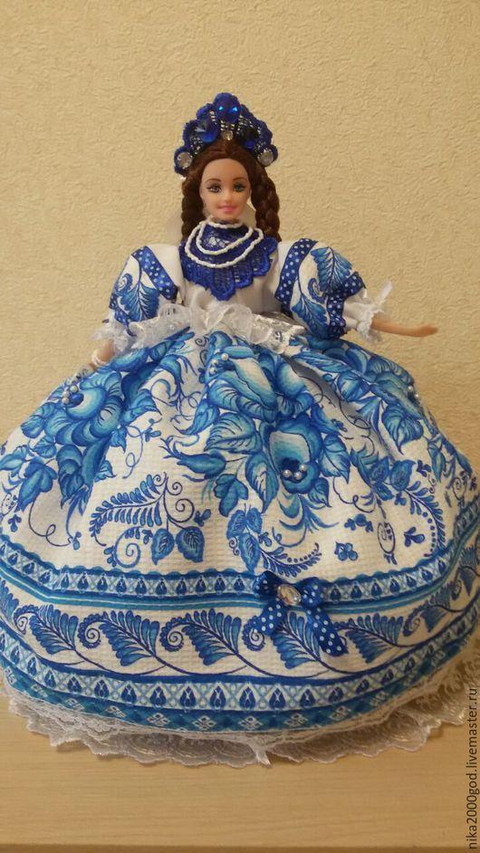Кухня ручной работы. Ярмарка Мастеров - ручная работа. Купить Кукла на чайник. Handmade. Кукла на чайник, гжель, хлопок